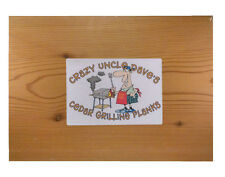 "Cedar Grilling Planks by Crazy Uncle Dave-Extra Large Size-10"" x 14"" x 1/2"""