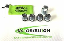 MGF / MGTF / LE500 GENUINE ALLOY WHEEL LOCKING  NUTS AND KEY NEW. FREE BAG