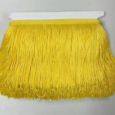 """By the Yard-6"""" yellow Chainette Fabric Fringe Lampshade Lamp Costume Trim"""