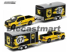 GREENLIGHT 1:64 32090C HITCH & TOW 2015 FORD F-150 & TERLINGUA RACING TRAILER