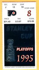 STANLEY CUP FINALS HOCKEY TICKET STUB-6/11/95 FLYERS/DEVILS