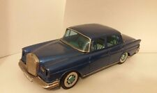 Vintage Bandai friction Mercedes Benz 220 tin car- working and made in Japan