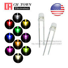 10kinds 500pcs 3mm LED Diodes Water Clear White Red Blue Purple/UV Mix Kits