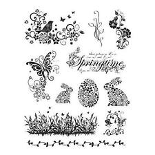 Viva Decor A5 Clear Silicone Stamps Set - Springtime & Easter Bunnies #14