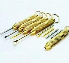 FD730 Mini Steel Screwdrivers Ear Pick Ear Cleaners Keychain Tool Kit 1 Set/4pcs