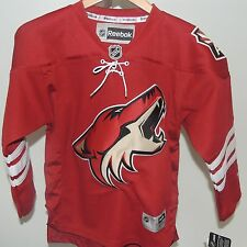 NHL REEBOK Premier Arizona Coyotes Hockey Jersey New Youth S/M MSRP $80