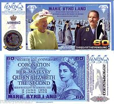 Marie Byrd Land 3/5 Penguinos Banknote Money Polymer Fun/Art Note Penguin Queen