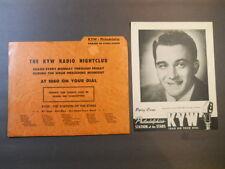 PERRY COMO 40's 50's KYW 1060 AM NBC Radio Nightclub Parade Stars Picture Promo
