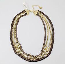 Alfani Tri-Tone Multi-Chain Frontal Trendy Fashion Necklace