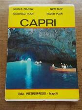 Vintage idp 1973 Colour Map of Isle of Capri 1970s Would look great framed 70s