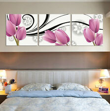 New Modern Wall Art Oil Painting Home Deco Tulip flower Picture Print On Canvas