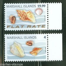 MARSHALL ISLANDS 2014 SEA SHELLS ADDITIONAL DEFINITIVES SET OF TWO  MINT NH
