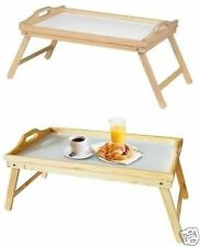 Pinewood Folding Breakfast Lap Tray Over Bed Serving Table Mate Kitchen Wooden