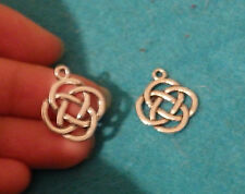 20 celtic knot charms pendant beads tibetan silver antique wholesale craft UK