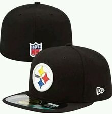 NWT Pittsburgh Steelers New Era 59FIFTY Fitted Flat Bill Hat Cap 7 3/4 Black