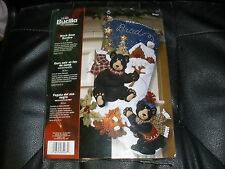 Bucilla BLACK BEAR BONFIRE Felt Christmas Stocking Kit
