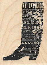 Cowboy Boot Collage Wood Mounted Rubber Stamp IMPRESSION OBSESSION Western New