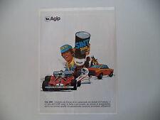 advertising Pubblicità 1980 AGIP SINT 2000 e FERRARI