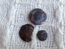 Roman X3 Worn Coins Of Late Emperors Including Little Minim