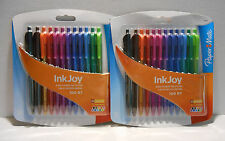 Paper Mate Ink Joy 100 RT Retractable Ballpoint Pens 10 Colors 1mm 2 Pack ~ NEW