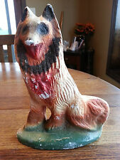 Vintage 1940's Dog Chalk Figure Carnival Prize Chalkware poor condition apx 8""