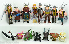 Lot 15 pcs How to Train Your Dragon Hiccup Toothless Astrid Toy Action Figures
