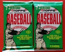 2x Lot 2011 Topps Heritage Baseball HOBBY Pack Stan Musial Al Kaline Auto/Relic?