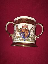 Limited Edition Spode Silver Jubilee Loving Cup Queen Elizabeth # 8 1977