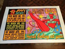 1995 Kozik silkscreen concert POSTER for THE NAUGHTY ONES Useless Playboys s/n