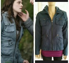 BB Dakota Twilight Jacket Bella Swan BLUE Cargo Hood Nicola Medium M RARE