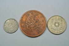 JAPAN Lot Of 3 Coins, 10 Sen, 2 Sen, 100 Yen  - C1657