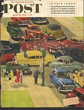 APRIL 28 1956 -  (COVER ONLY) SATURDAY EVENING POST MAGAZINE - TRAFFIC JAM - CAR