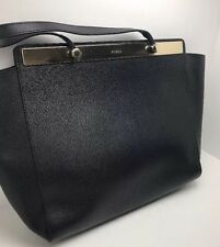 Furla Mia Large Leather Tote Bag, Onyx(MSRP$478)u