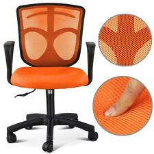 Adjustable Mesh Back Seat Fabric  Ergonomic Executive Office Computer Chair UK