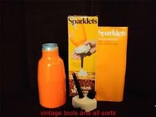 VINTAGE BOC SPARKLETS CREAM WHIPPER 1970'S RETRO ORANGE