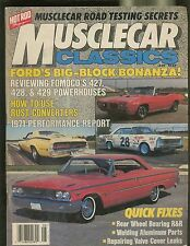 MUSCLECAR CLASSICS MAGAZINE AUGUST 1987 FORDS BIG-BLOCK BONANZA TESTING SECRETS