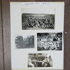 LOT 8 PHOTOGRAPHIES ORIGINALES 1934 HAGUENAU 23EME REGIMENT D'INFANTERIE