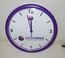 Exelon Patch Purple Plastic Wall Clock Drug Rep Advertising