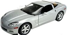 1:18 Hot Wheels Silver 2003 Corvette Coupe C6 Chevrolet Chevy