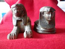 2 sculptures statues en bronze Sphinx souvenirs d'Egypte