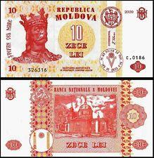 MOLDOVA 10 LEI 2009 UNCIRCULATED P.10