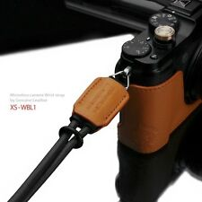 GARIZ Leather Wrist Strap Orange XS-WBL1 m43 Sony NEX Olympus Lumix Fuji