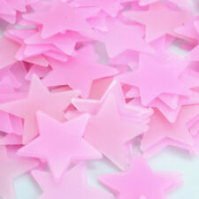 100pcs Glow In The Dark Luminous 3D Stars Moon Sticker Home Wall Room Decor DIY