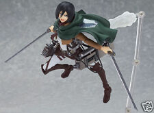 "Japanese Anime Figma Mikasa Attack On Titan Ackerman 6"" PVC Action Figure In Box"