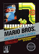 Nintendo Nes Super Mario Bros Arcade Classic  Box Cover Fridge Magnet Game Decor