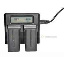 Dual Channel LCD Digital Battery Charger For Panasonic VW-VBN130 VW-VBN260 D54S