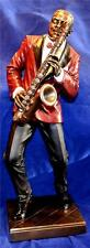LARGE 29cm TALL JAZZ BAND SAXOPHONE PLAYER SCULPTURE Sax Music Saxophonist