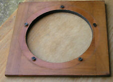 wooden lensboard 150 x 146mm 6.6mm thick 104mm hole used