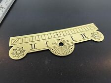 Brass Clock beat scale plate Seth Thomas No. 2 Regulator Style