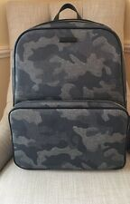 MICHAEL KORS Jet Set Backpack 33S5SMNB2R INDIGO Blue Grey Camo $478 NWT